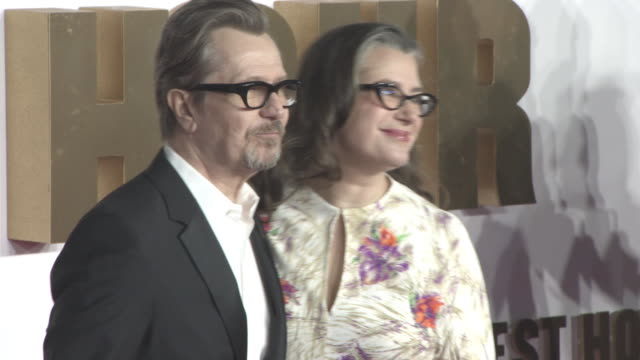 Gary Oldman Gisele Schmidt at 'Darkest Hour' UK Premiere at Odeon Leicester Square on December 11 2017 in London England