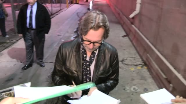 Gary Oldman greets fans in Hollywood 01/24/13