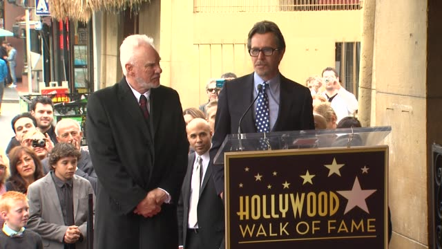 Gary Oldman on his friend Malcolm McDowell at Malcolm McDowell Honored with Star on the Hollywood Walk of Fame in Hollywood CA on 3/16/2012