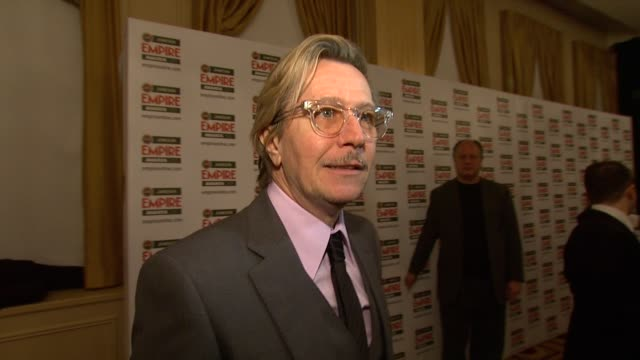Gary Oldman on how he feels on whether it makes him reminisce at the Jameson Empire Awards at London England