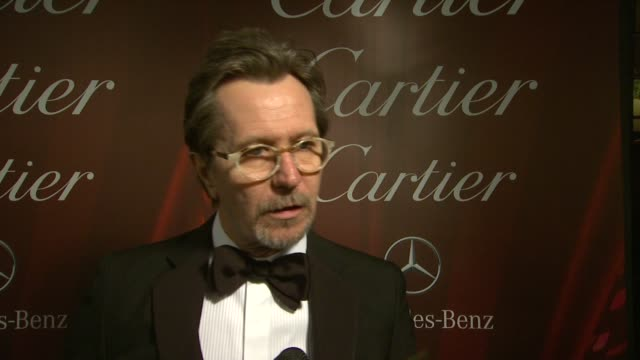 INTERVIEW Gary Oldman on on being back at the festival at the 25th Annual Palm Springs International Film Festival Awards Gala Presented By Cartier...