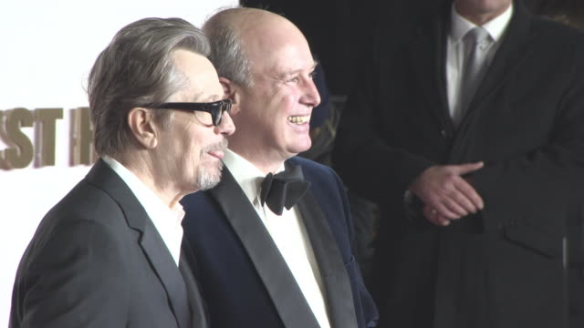 Gary Oldman Randolph Churchill at 'Darkest Hour' UK Premiere at Odeon Leicester Square on December 11 2017 in London England