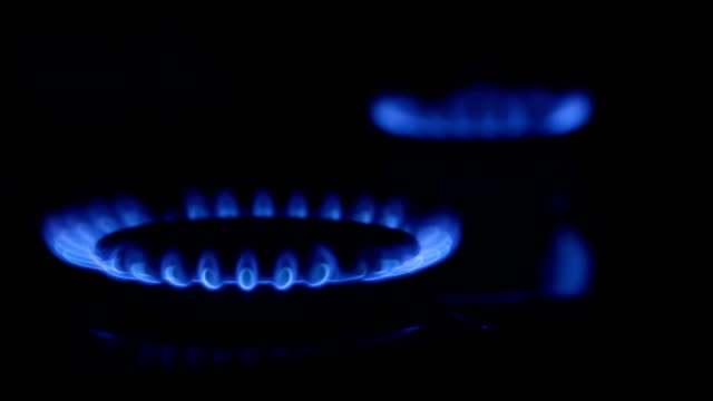 Gas fire.