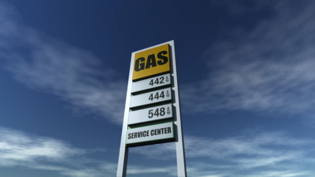 Gas Station Sign Price go up HD 720