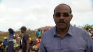 Gaston Browne Prime Minister of Antigua Barbuda saying other countries should see aid to Barbuda after Hurricane Irma as a 'national disaster' and...