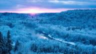 Gauja river at sunset