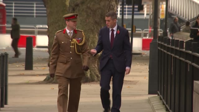 Gavin Williamson arrival at Ministry of Defence ministers along in and out of Downing Street ENGLAND London Whitehall EXT General views of Ministry...