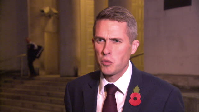 Gavin Williamson saying it is a 'priviledge' to be appointed the new Defence Secretary and that the armed forces are 'the greatest pride of our...