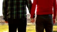gay couple enjoying sunset and love