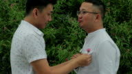 Gay Couple Romantic Outdoors