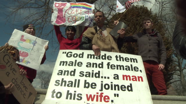 Gay Marriage Detractors Rally at Supreme Court on March 27 2013 in Washington DC