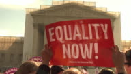 Gay Marriage Supporters Rally Against DOMA at Supreme Court on March 27 2013 in Washington DC