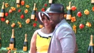 Gayle King 50 Cent at Veuve Clicquot Polo Classic 2015 at Liberty State Park on May 30 2015 in Jersey City New Jersey