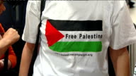 Hackney activist returns to United Kingdom ENGLAND London Heathrow Airport INT Families of captured proPalestine protesters waiting in arrivals hall...