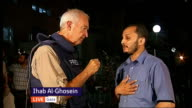Palestinian death toll reaches 600 as shelling of Gaza continues LIVE ISRAEL Gaza Ihab AlGhosein interview speaking 'on behalf of Hamas' SOT/ General...