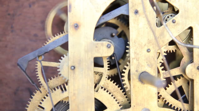 Gears of antique clocks.