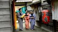Geishas in Japanese historic village