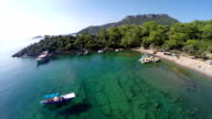Gemile bay from Oludeniz - Aerial video