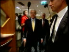 Campaigning/Margaret Thatcher ITN ENGLAND Brighton John Major and wife Norma in hotel lobby as Major shaking hands with staff PAN and commenting to...