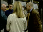 Conservatives William Hague profile ITN ENGLAND Yorkshire Conservative Party Leader William Hague and wife Ffion along street in his constituency PAN...