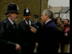 Law and Order LIB Home Secretary Jack Straw shaking hands with policemen
