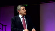 Brown Speech at Royal Institute GORDON Gordon Brown speech continued SOT makes joke about Tony Blair World was changing pretty fast Quick succession...