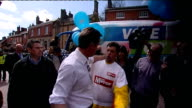 Campaigning continues David Cameron at Tamworth ENGLAND Staffordshire Tamworth EXT David Cameron and pregnant wife Samantha Cameron out of car and...
