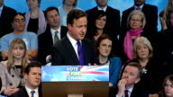 Conservative manifesto launch Cameron QA press conference David Cameron MP press conference QA session SOT To get the economy going and deal with...