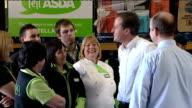Conservative Party campaign David Cameron at ASDA Wolverhampton ENGLAND West Midlands Wolverhampton INT Car along into warehouse David Cameron MP...