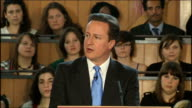 Conservative Party campaign David Cameron speech on 'Mending our Broken Society' David Cameron MP speech SOT Brooke Kinsella is here today because...