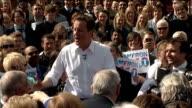 David Cameron rally at Marston's Brewery ENGLAND Staffordshire Burton on Trent EXT Conservative election bus arrives at Marston Brewery David Cameron...