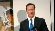 David Cameron speech at the Fashion Retail Academy ENGLAND London Fashion Retail Academy PHOTOGRAPHY** David Cameron speech SOT Jokes about Devon...