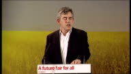 Ed Miliband and Gordon Brown at launch of Labour environment Manifesto Gordon Brown speech continued SOT they prepared to see thousands families lose...