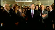 Gordon Brown and Ross Kemp at Warwickshire College Gordon Brown speech SOT Privilege and pleasure for Sarah and I to be here / brough Ross Kemp to...
