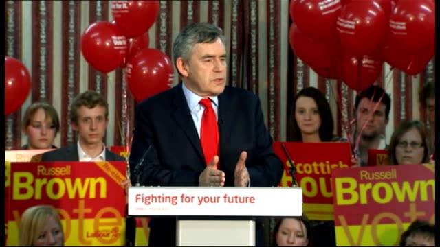 Gordon Brown speech in Dumfries Gordon Brown speech continued SOT Tory inheritance tax plans show difference between Labour and Conservatives/...