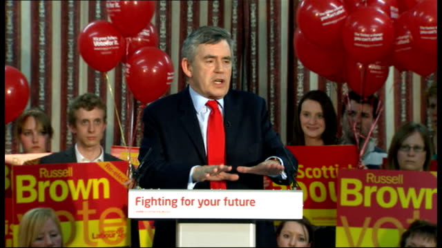 Gordon Brown speech in Dumfries Gordon Brown speech continued SOT failed Conservative ideology more reminiscent of the 1930's let's not go backwards...