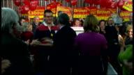 Gordon Brown speech in Dumfries SHOTLISTING SCOTLAND Dumfries INT **MUSIC heard over following** Gordon Brown MP and his wife Sarah Brown shaking...