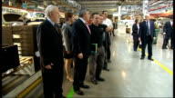 Gordon Brown visits Vauxhall plant at Ellesmere Port ENGLAND Cheshire Ellesmere Port Vauxhall plant PHOTOGRAPHY** General views of Gordon Brown MP...