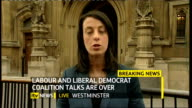 hung parliament fifth day talks ITV News Special PAB 1655 1830 London GIR INT Austin STUDIO Westminster Houses of Parliament EXT Lucy Manning...
