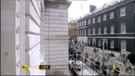 hung parliament fifth day talks ITV News Special PAB 1655 1830 ** COMMERCIAL Downing Street EXT High angle view Downing Street media opposite No 10...