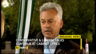 hung parliament fifth day talks ITV News Special PAB 1655 1830 London GIR INT Austin STUDIO Alan Duncan MP interview with Mary Nightingale SOT On...