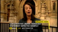 hung parliament fifth day talks ITV News Special PAB 1655 1830 London GIR INT Austin STUDIO / Lucy Manning 2WAY from outside Houses of Parliament...