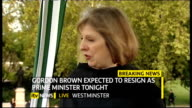 hung parliament fifth day talks ITV News Special PAB 1655 1830 London GIR INT Austin STUDIO Westminster College Green EXT Theresa May MP interview...