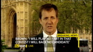 hung parliament fourth day talks Gordon Brown resigns as Labour Party leader ENGLAND London GIR INT Alistair Campbell 2 WAY interview from...