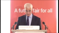 Labour Party campaign Alistair Darling speech on the economy Darling speech SOT They have made tax promises amounting to 38bn pounds without saying...