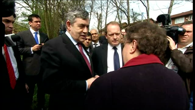 Labour Party campaign Gordon Brown gaffe during visit to Rochdale Exchange between Gillian Duffy and Gordon Brown SOT Duffy Family have always voted...
