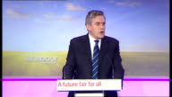 Labour press conference Gordon Brown press conference continued SOT If they'd been able to cut last Autumn when they wanted to we would still be in...