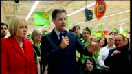 Lib Dem Leader Nick Clegg walkabout and speech at ASDA Harrogate Clegg SOT No child whatever their circumstances should ever be told they cannot be...