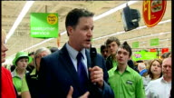 Lib Dem Leader Nick Clegg walkabout and speech at ASDA Harrogate Clegg SOT Got to ensure money that is being spent badly in NHS is redirected to...