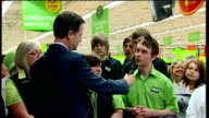Lib Dem Leader Nick Clegg walkabout and speech at ASDA Harrogate QA session Clegg SOT We are one of most creative nations in world government has...